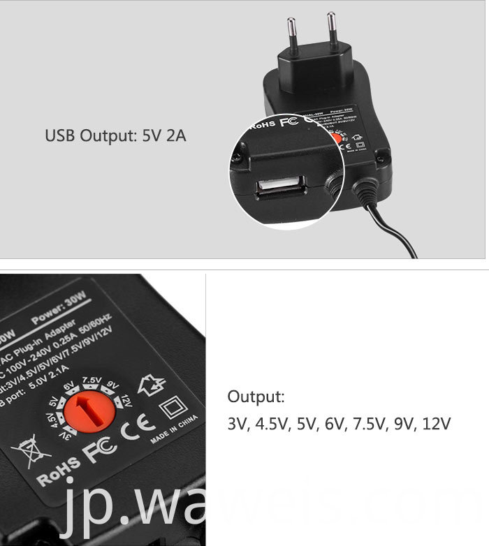 30w Multifunctional Wall Charger